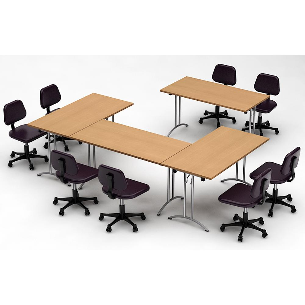 Meeting Room Tables Teamwork Tables 4 Piece Natural Beech Conference Tables Meeting Tables Seminar Tables Compact Space Maximum Collaboration