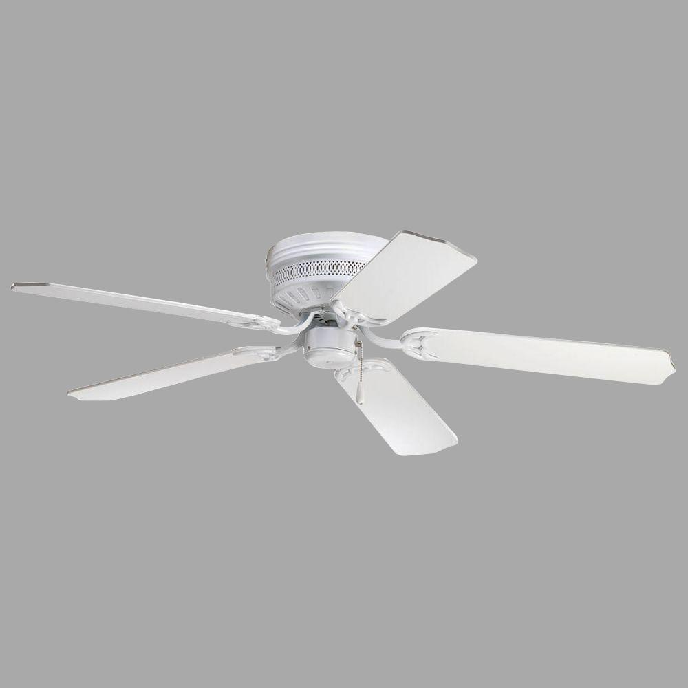 Lights Ceiling Progress Lighting Airpro Hugger 52 In Indoor White Ceiling Fan