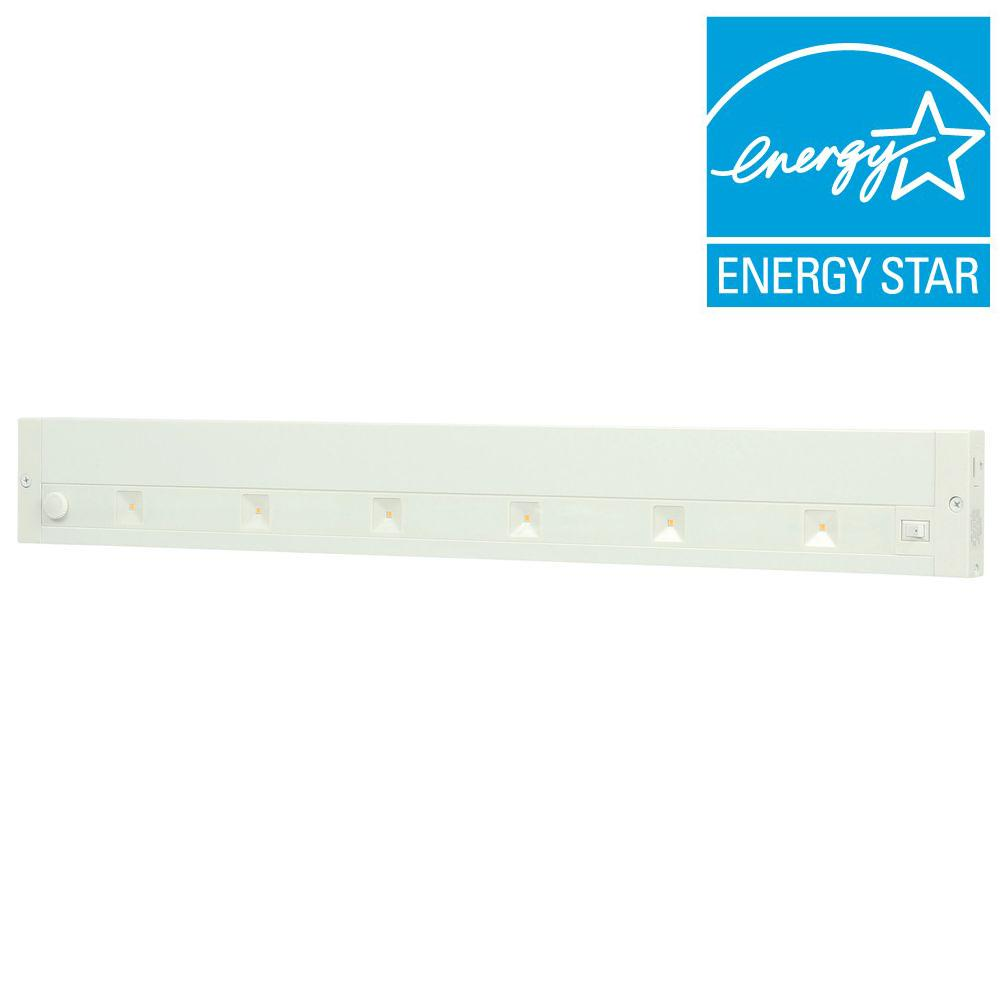 Led White Juno 24 In White Led Dimmable Linkable Under Cabinet Light