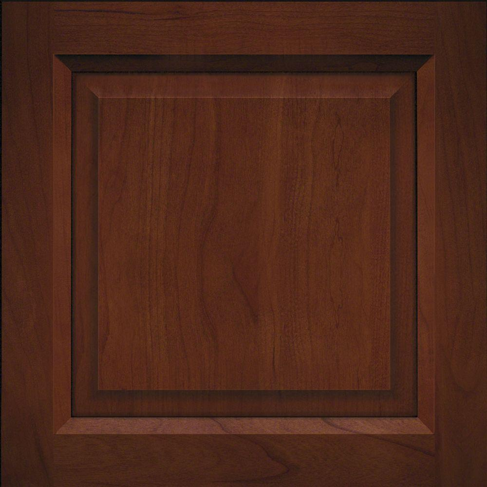 Wood Kitchen Cabinet Doors 15x15 In Cabinet Door Sample In Victoria Cherry Square In Chocolate With Ebony Glaze