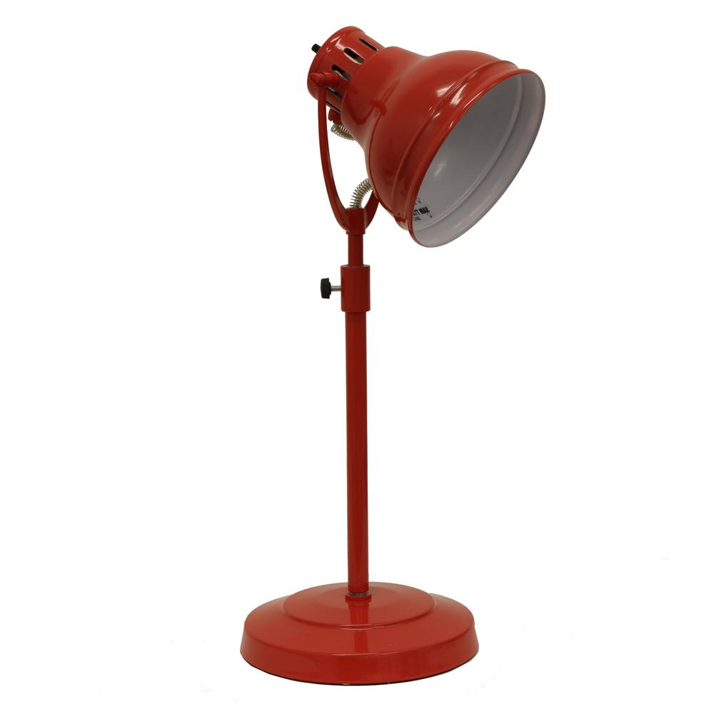 Study Table Light Decor Therapy Desk Task 21 In Red Table Lamp With Metal Shade