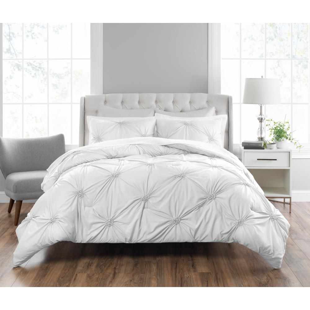 Duvet And Comforter Sets Nicole Miller Clairette 3 Piece Technique King Comforter Set K