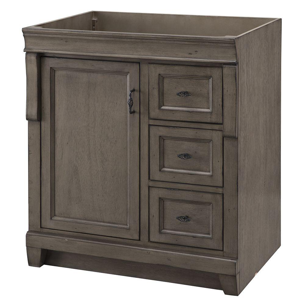 30 Vanity With Drawers Home Decorators Collection Naples 30 In W Bath Vanity Cabinet Only In Distressed Grey With Right Hand Drawers
