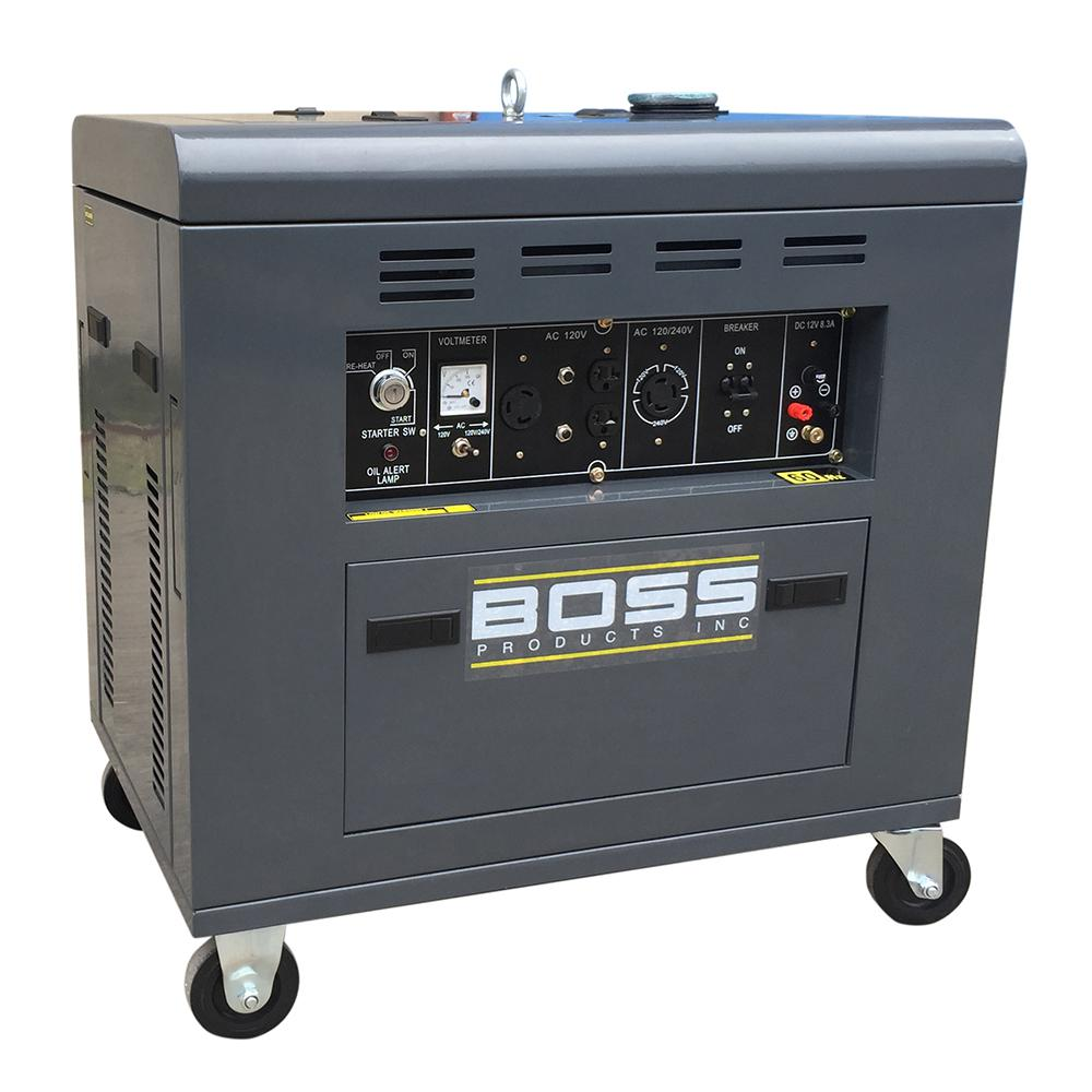 Diesel Generator Canada Boss Precision Products Inc Portable Generator 2 Speed 12 Hp 120 240 Volt Diesel Motor With Single Cylinder Vertical 4 Stroke Air Cooled