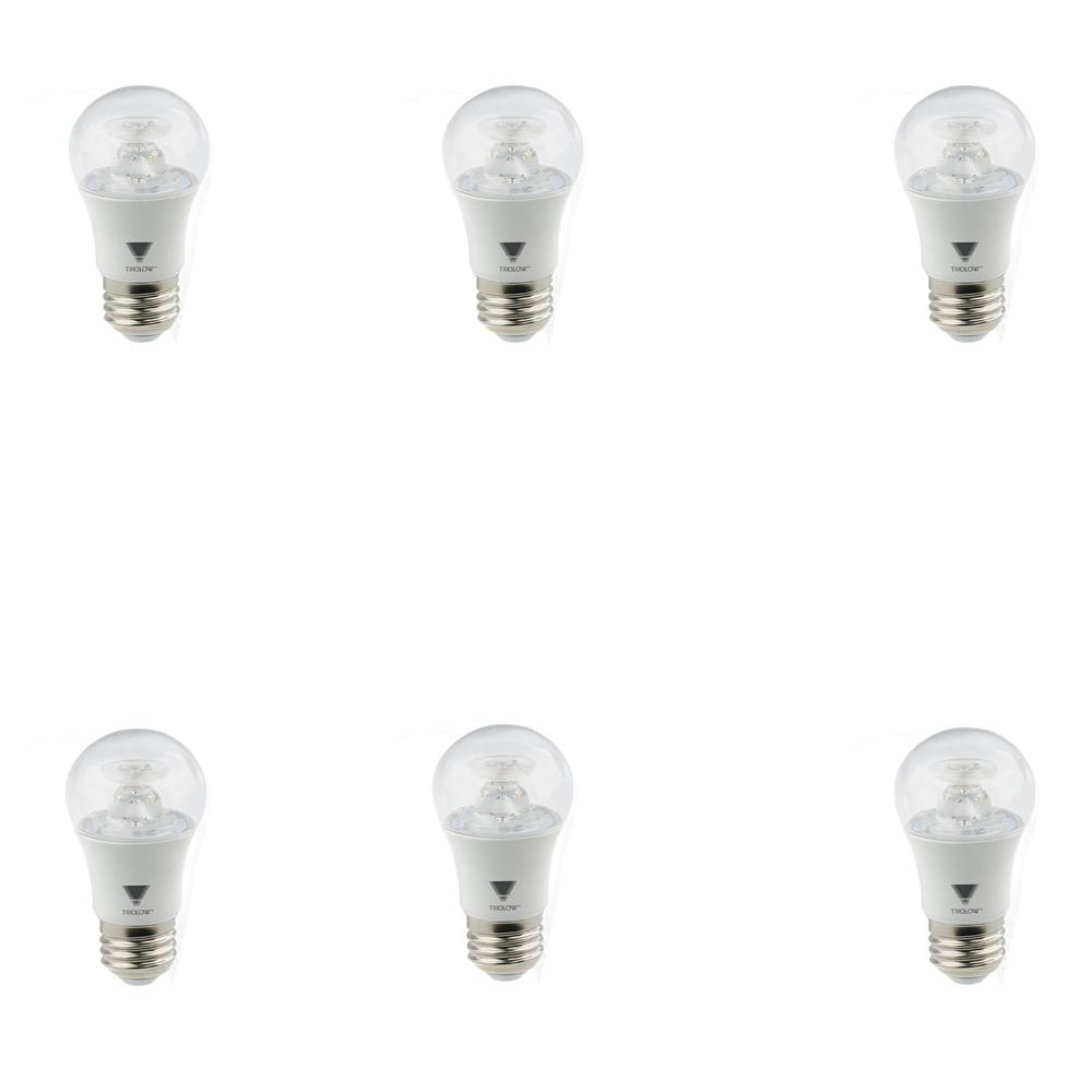40 Watt In Lumen Triglow 40 Watt Equivalent A15 Dimmable 450 Lumens Etl E26 Medium Base Appliance Led Light Bulb Soft White 6 Pack