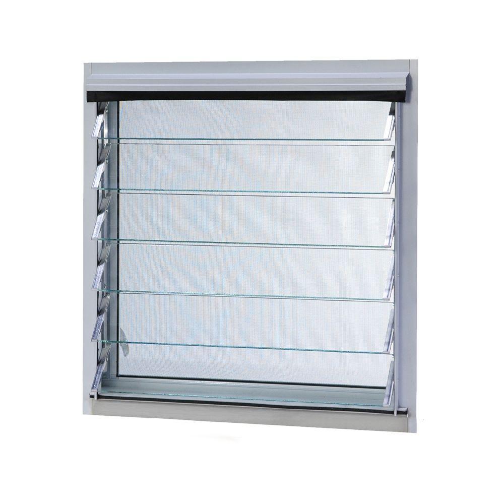Jalousie utility louver aluminum screen window white jalw3618 the home depot