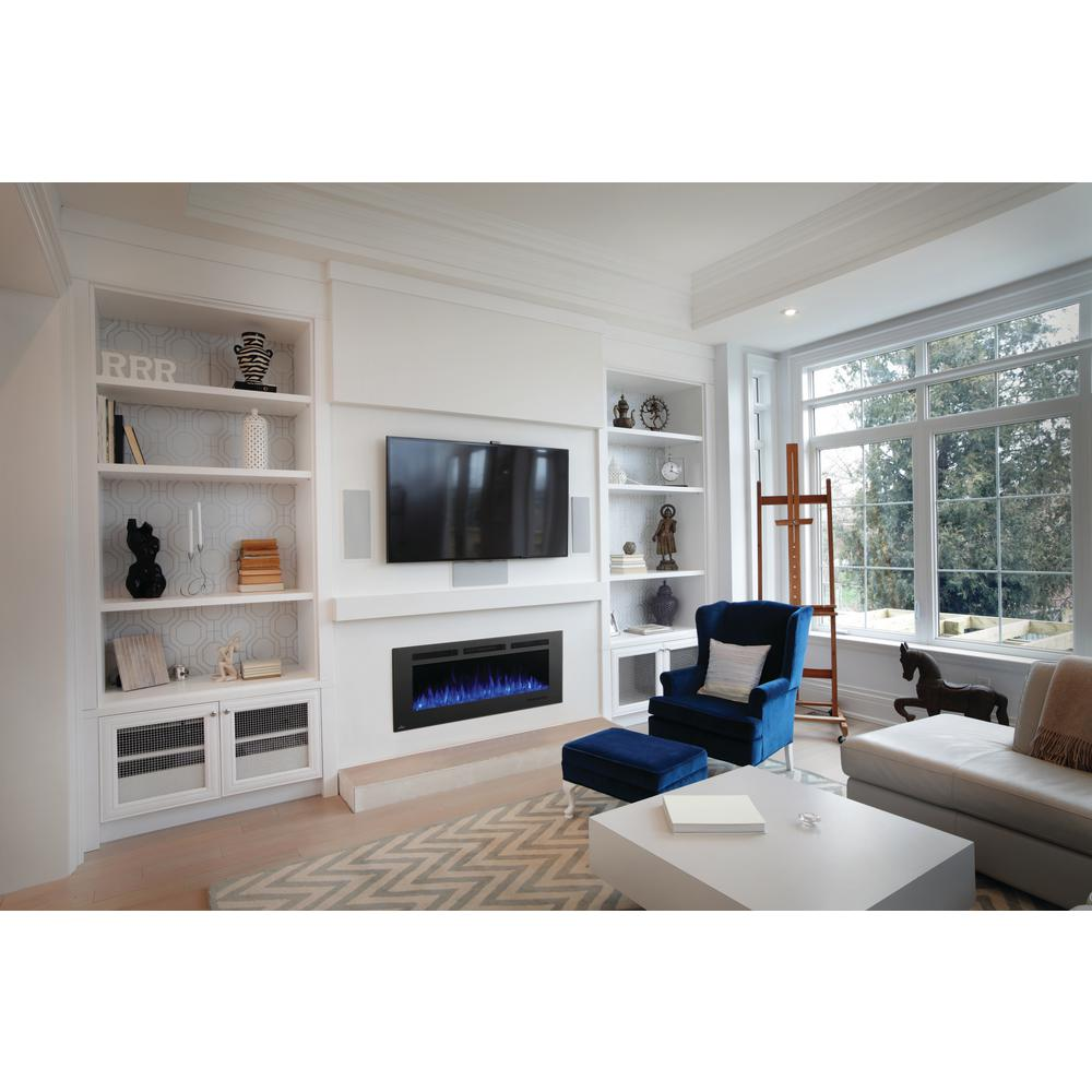 Electric Fireplace Built Into Wall Allure Phantom 50 In Wall Mount Electric Fireplace With Mesh Screen