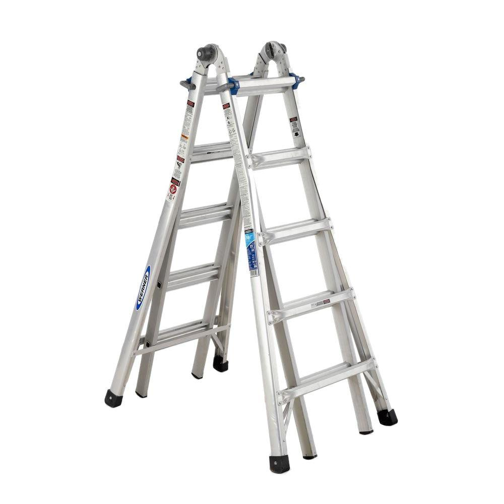 Werner Multiposition Ladder Multi Position Ft Aluminum Lb Werner 22 Ft. Reach Aluminum Telescoping Multi-position
