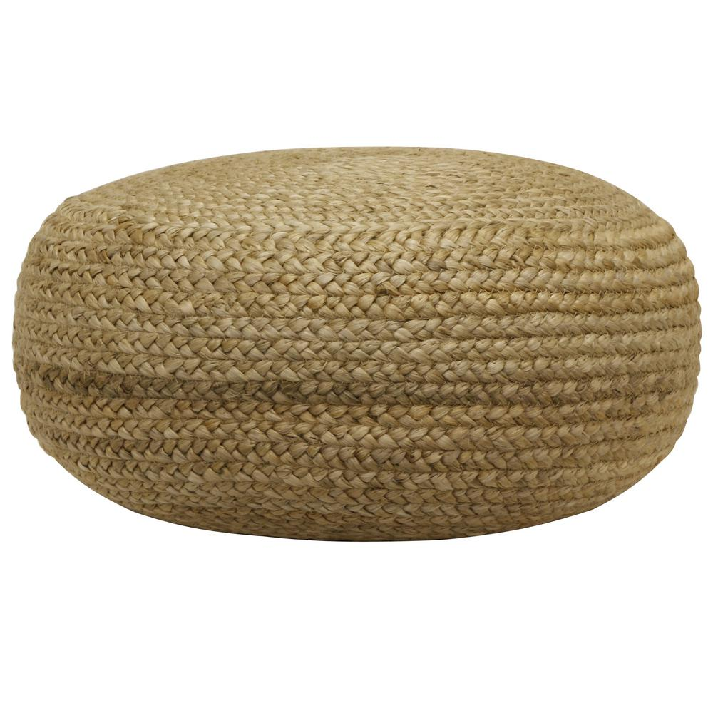Extra Large Pouf Ottoman Decor Therapy Pouf Natural Woven Ottoman Fr7466 The Home Depot