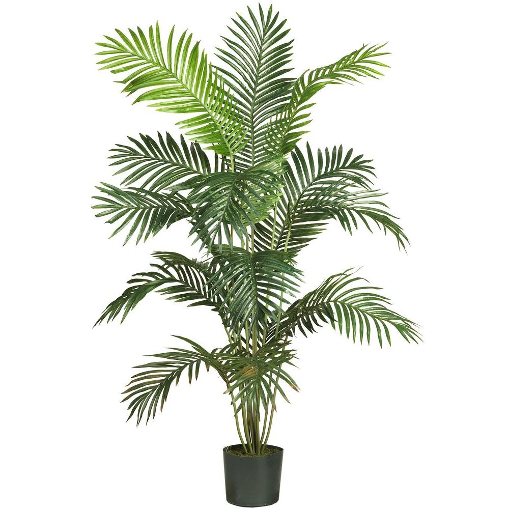 Home Depot Palm Trees Nearly Natural 5 Ft 6 In Paradise Palm Silk Tree