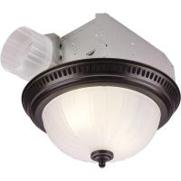 NuTone Decorative Bronze 70 CFM Ceiling Exhaust Fan with ...