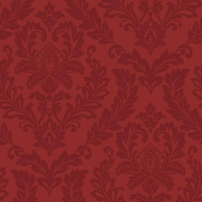 York Wallcoverings Red Damask Wallpaper-LW5895 - The Home Depot