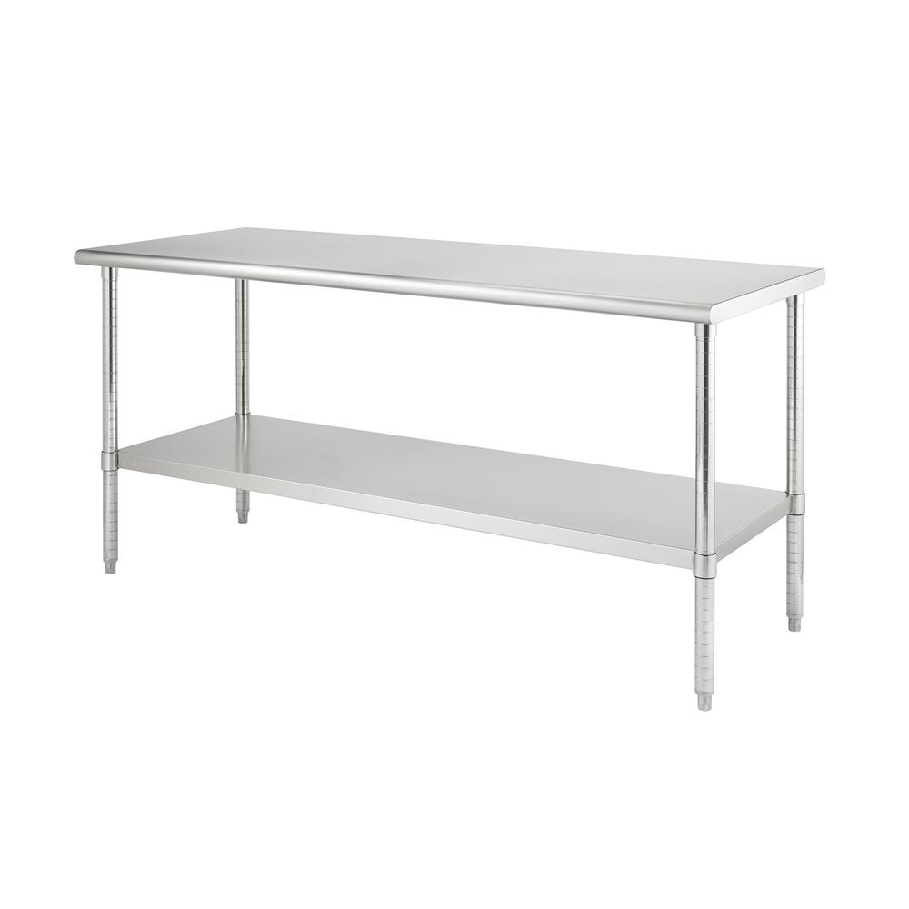 Stainless Restaurant Table Trinity Pro Ecostorage Stainless Steel 72 In X 30 In Nsf Kitchen Utility Table