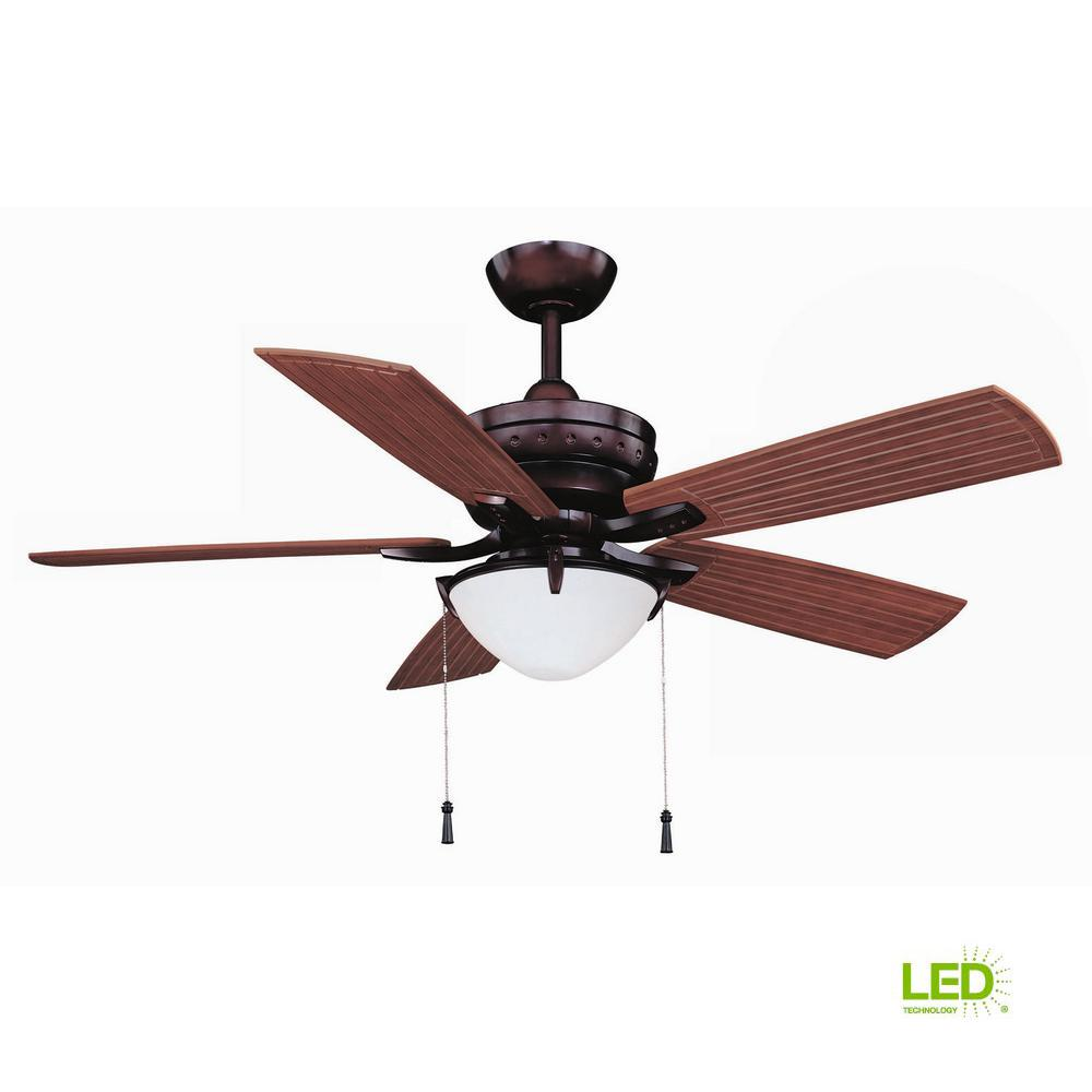 Boat Ceiling Fan Hampton Bay Four Winds 54 In Led Indoor Outdoor Weathered Bronze Ceiling Fan With Light Kit