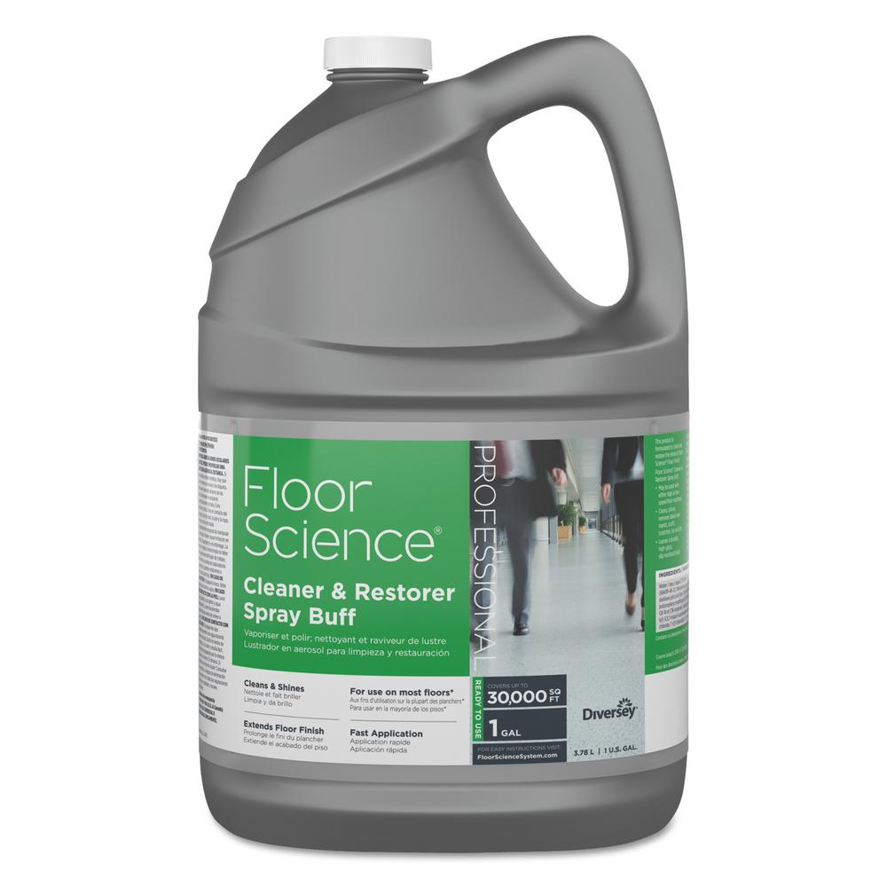 Plancher Home Depot Diversey Floor Science 1 Gal Citrus Cleaner Restorer Spray Buff Bottle 4 Per Carton