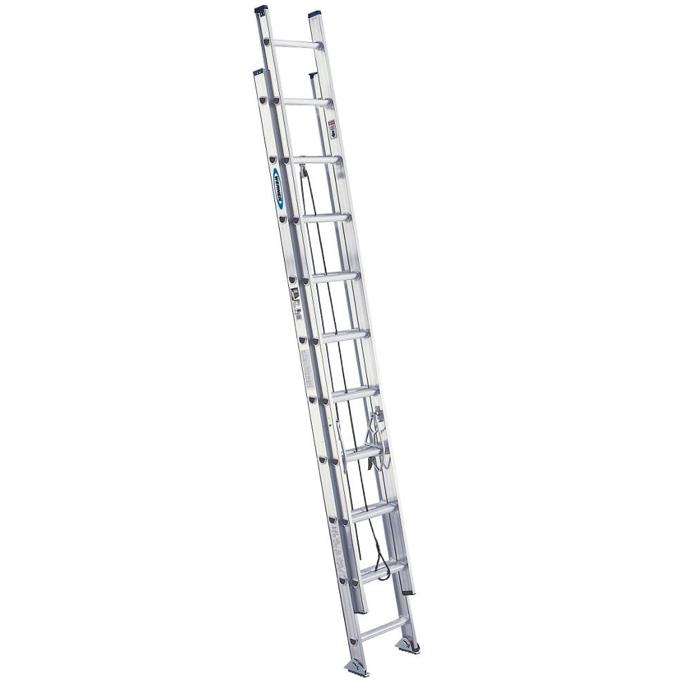 20' Ladder Home Depot Werner 20 Ft Aluminum Extension Ladder With 300 Lb Load Capacity Type Ia Duty Rating