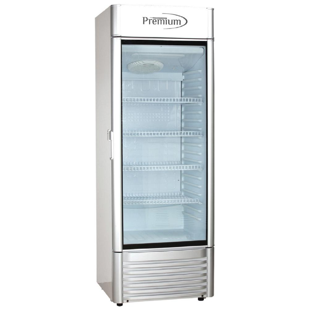 Home Depot Fridges Canada 12 5 Cu Ft Single Door Commercial Refrigerator Beverage Cooler In Gray