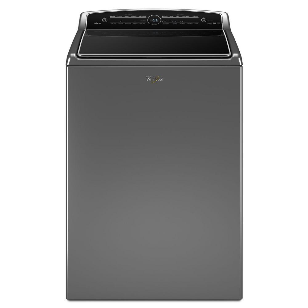 Whirlpool 5 3 Cu Ft High Efficiency Top Load Washer With Colorlast In Chrome Shadow Intuitive - Top Loading Washers