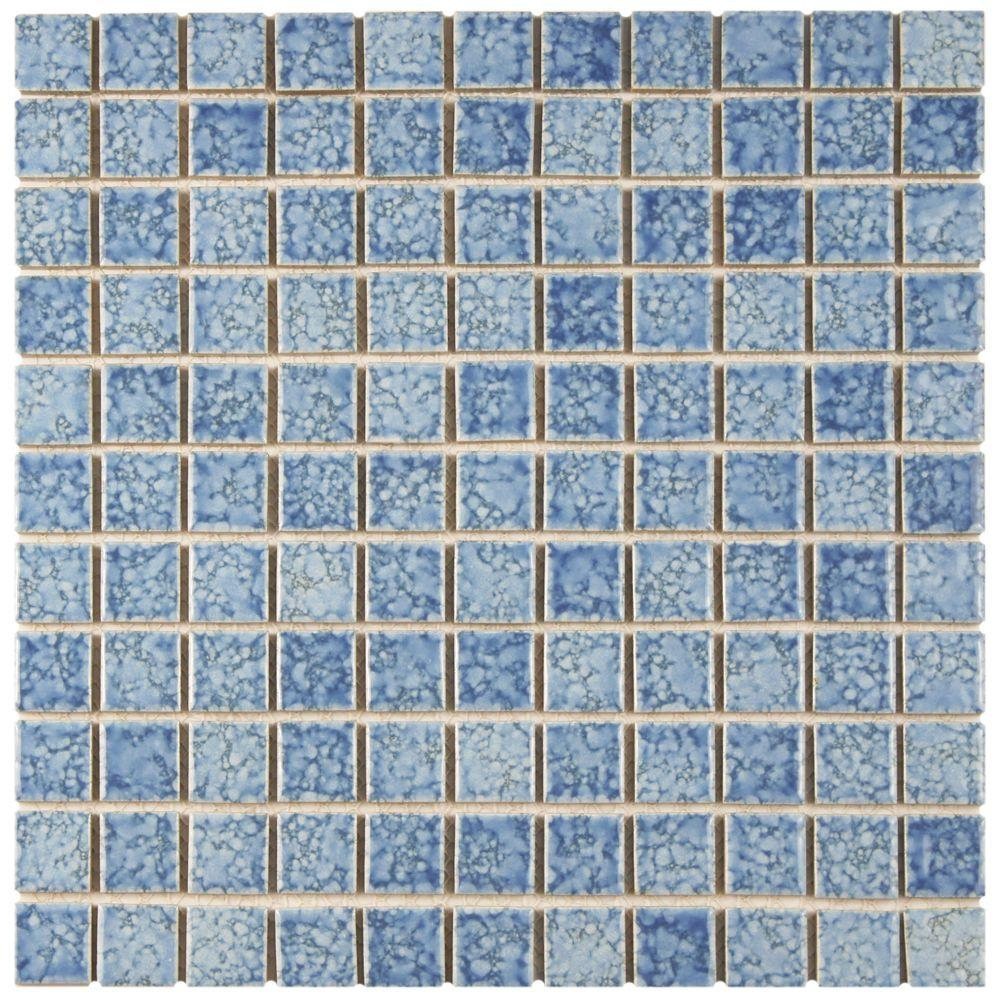 Merola Tile Fountain Square Blue 12 In X 12 In X 5 Mm