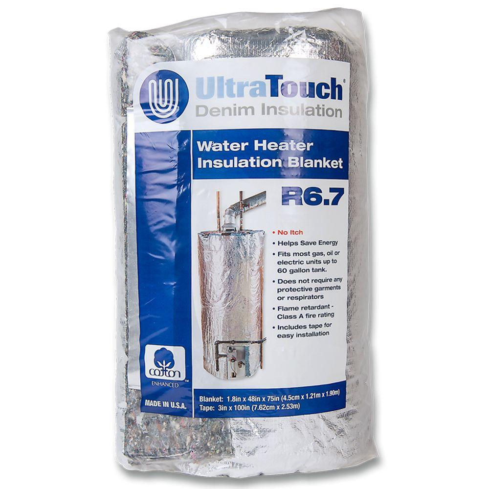Foil Insulation Blanket Ultratouch 48 In X 75 In Denim Insulation Hot Water Heater Blanket