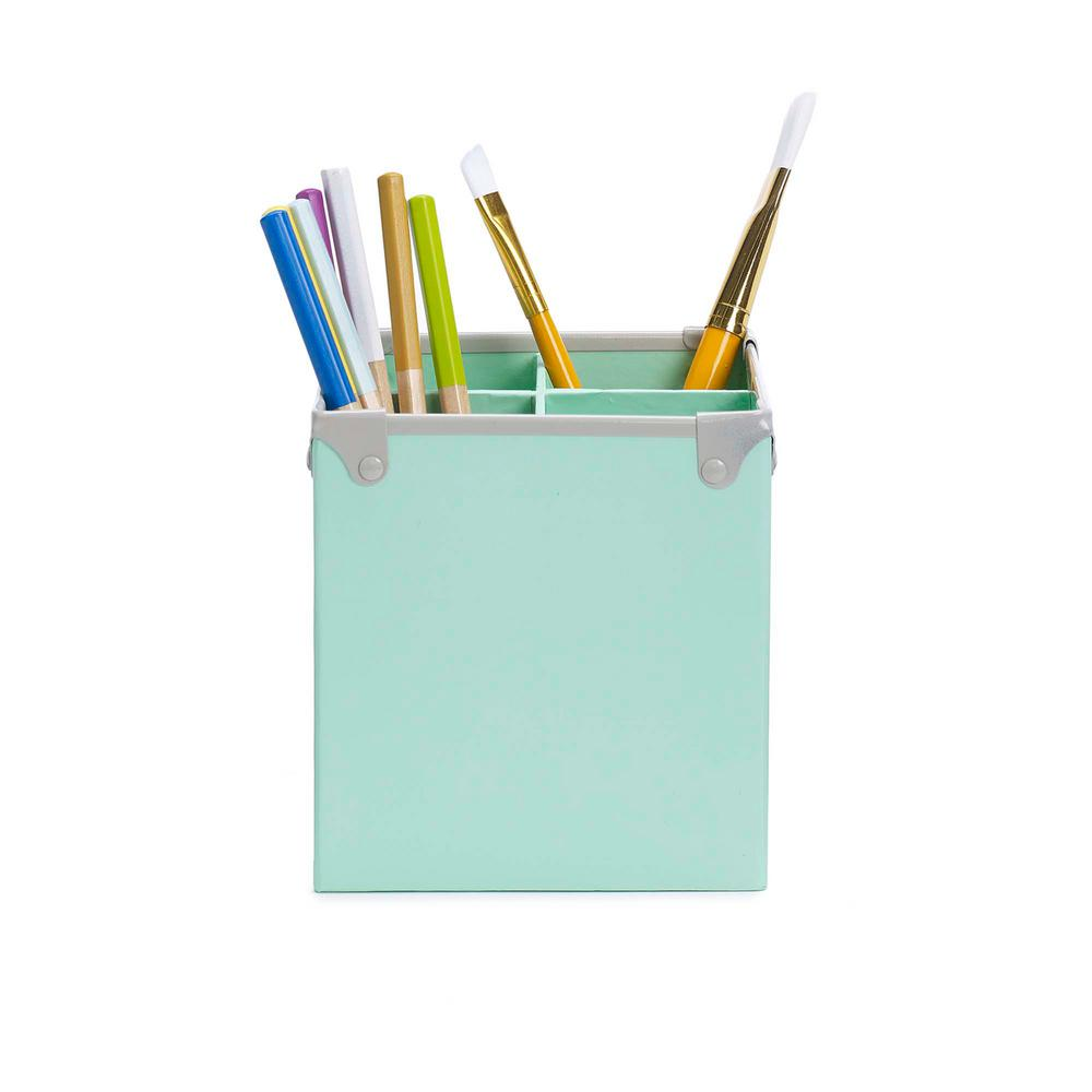 Matching Office Desk Accessories Design Ideas Frisco Paperboard Pencil Cup Mint