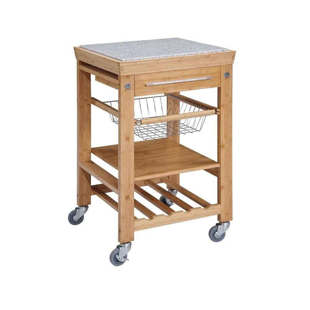 Bamboo Island Countertop 22 Sq In Bamboo Kitchen Island Cart 44031bmb01kdu The Home Depot
