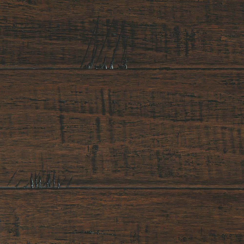 Plancher Home Depot Hand Scraped Strand Woven Wellington 3 8 In T X 5 1 8 In W X 36 In L Engineered Click Bamboo Flooring