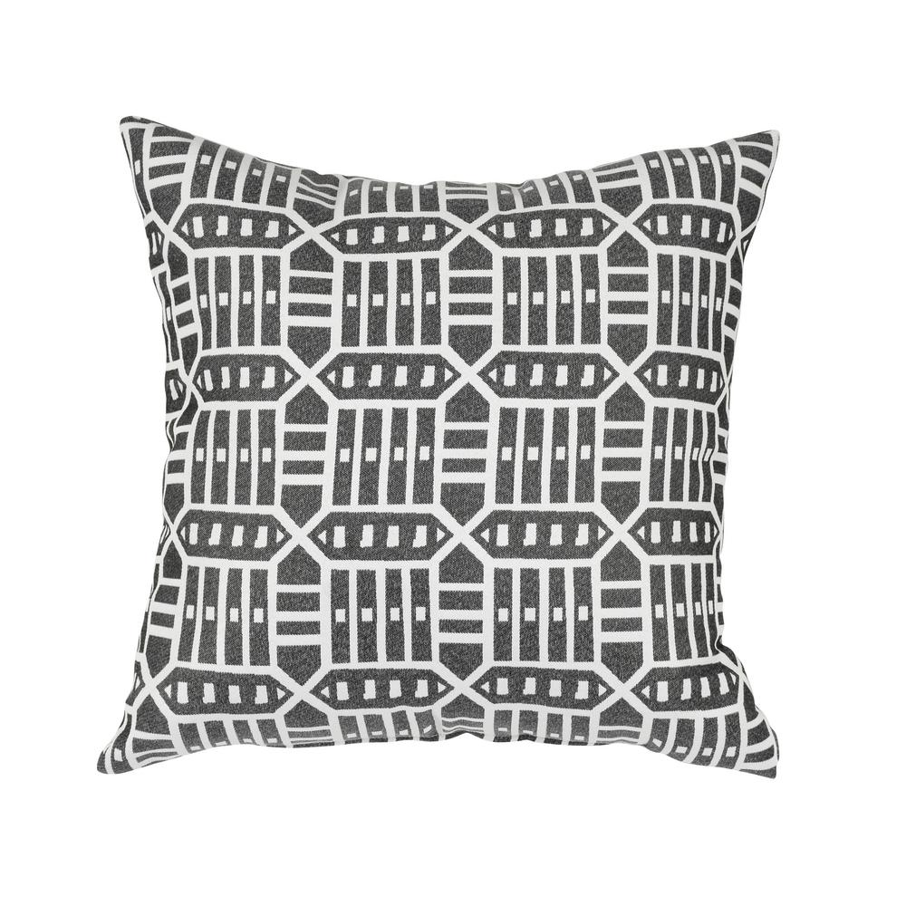 Lounge Throw Astella Roland Charcoal Square Outdoor Accent Lounge Throw Pillow