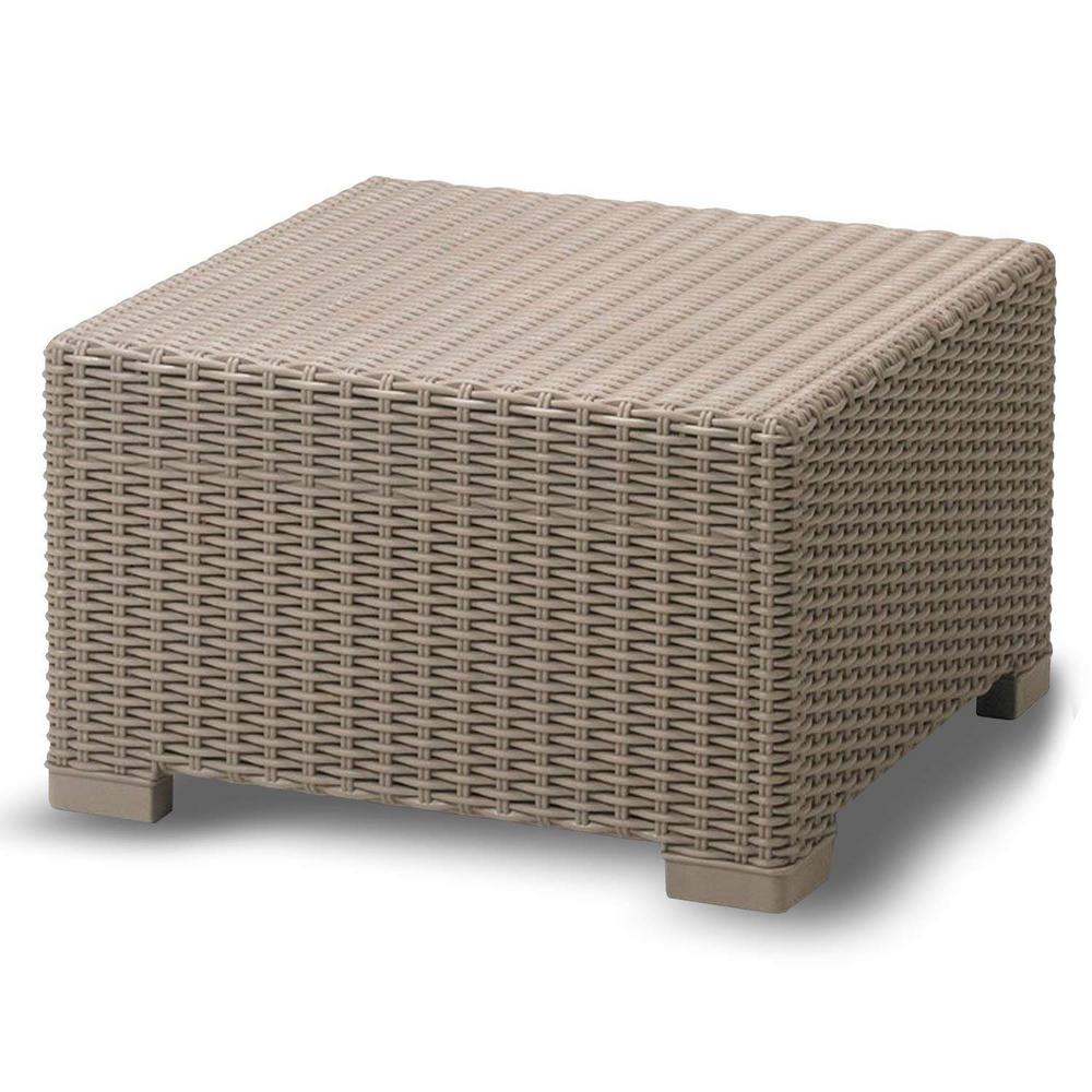 Wicker Ottoman Yukon Glory Premium Wicker Outdoor Ottoman Weather Resistant Coffee Table Design Easy Assembly