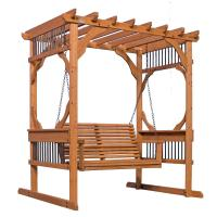 Backyard Discovery 3-Person Wood Patio Pergola Swing in ...