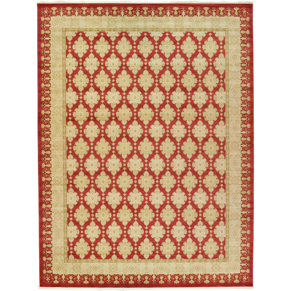 Unique Loom Edinburgh Red 12392quot X 1639 Rug 3117567 The