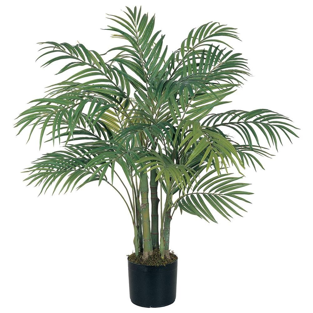 Home Depot Palm Trees Nearly Natural 3 Ft Areca Silk Palm Tree