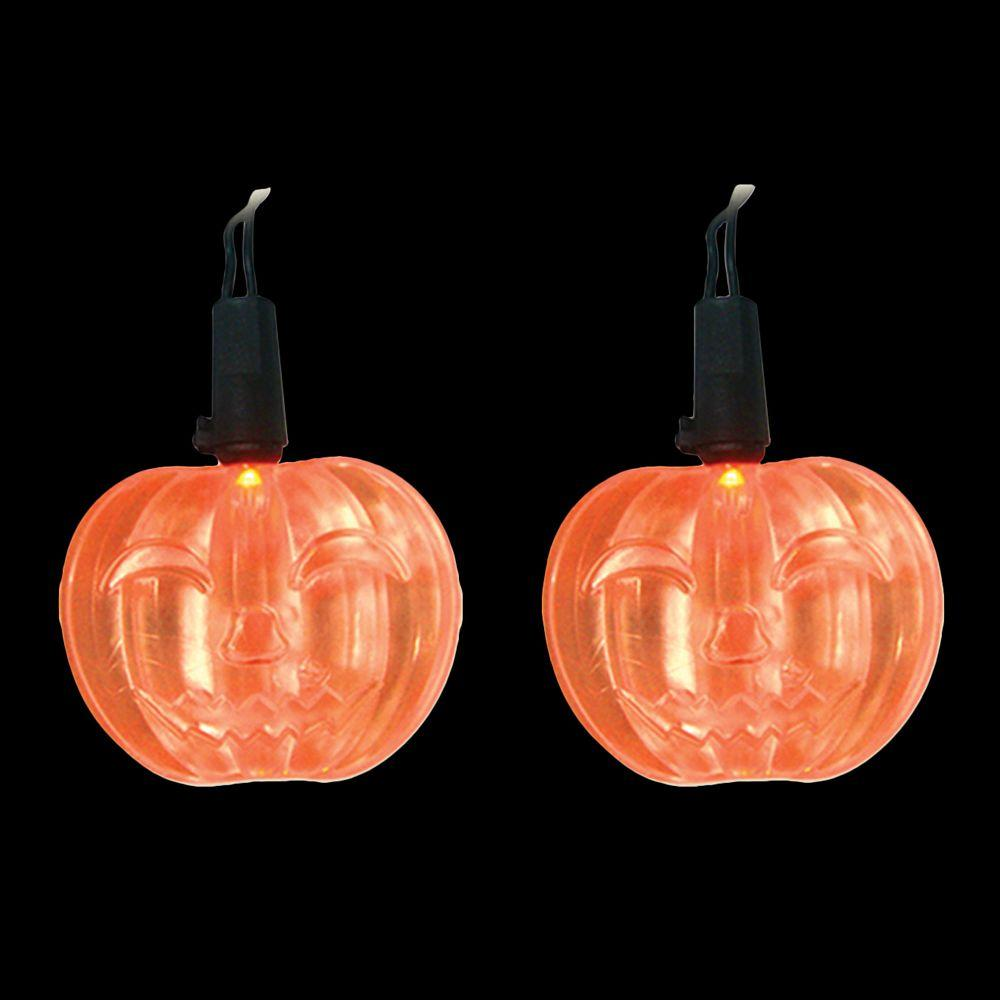 Led Halloween Lights Brite Star Led Orange Battery Operated Pumpkin Lights Set Of 10
