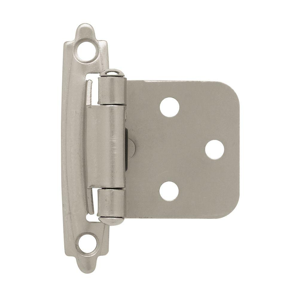Liberty Satin Nickel Self Closing Overlay Cabinet Hinge 5 Pairs H0103bl Sn U1 The Home Depot