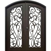 ALLURE IRON DOORS & WINDOWS 74 in. x 82 in. Eyebrow St ...