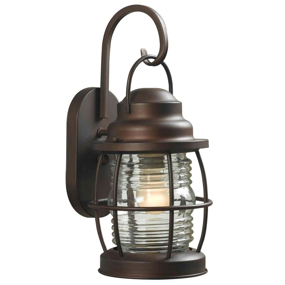 Laterne Außen Home Decorators Collection Harbor 1-light Copper Bronze