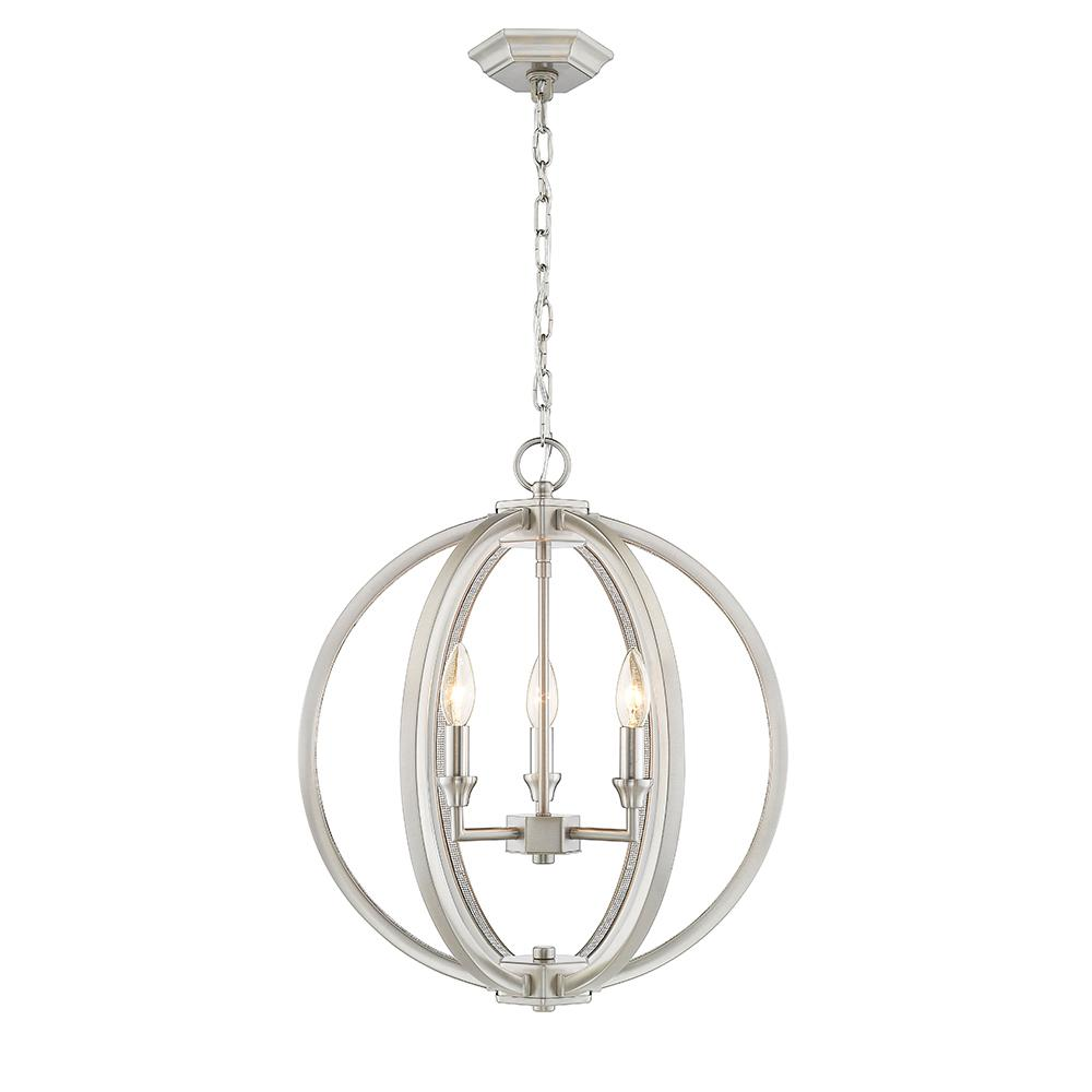 Led Chandelier Ove Decors Gavin Ii 4 Lights Polished Nickel 17 In Led Chandelier With Crystal Strips