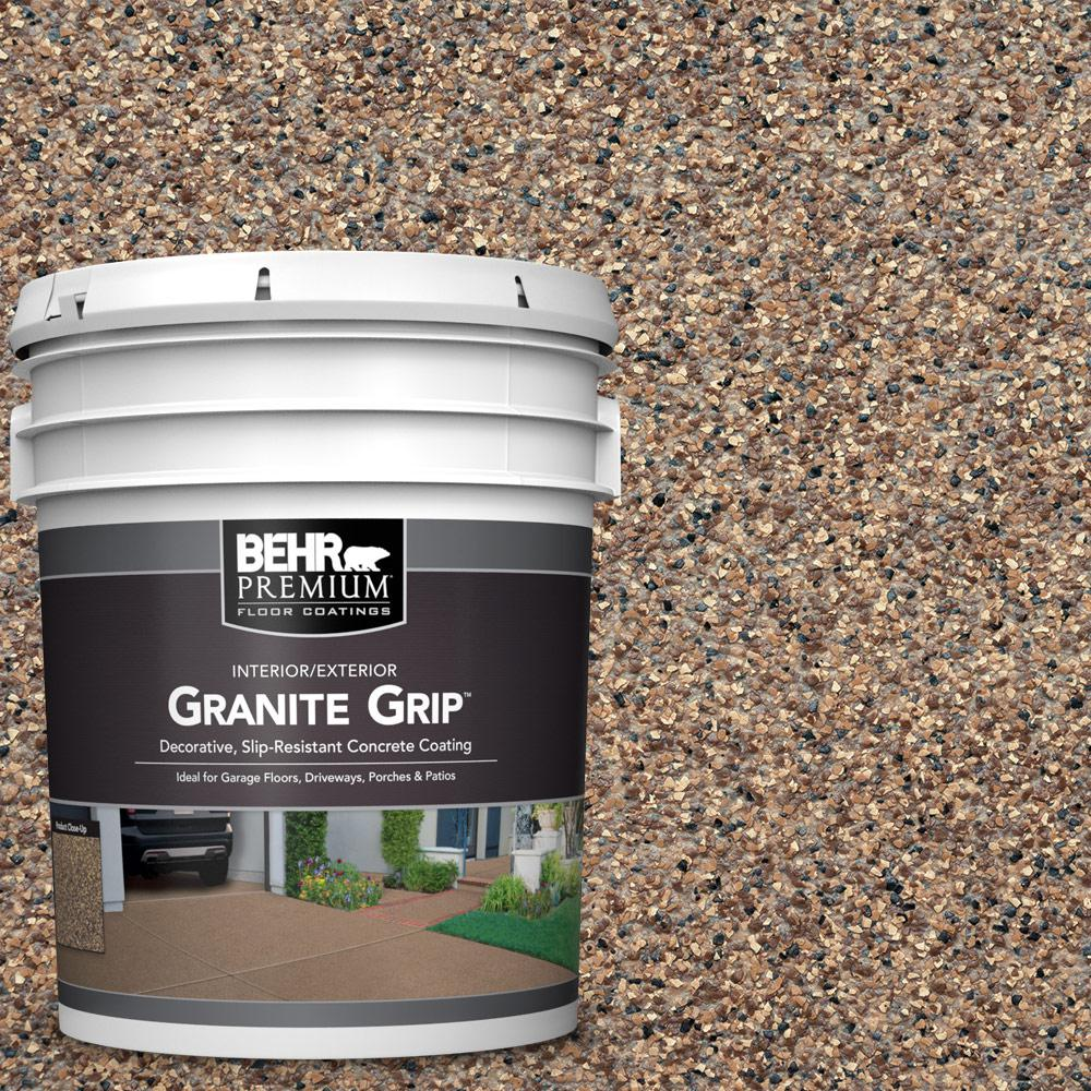 Floor Paint Home Depot Behr Premium 5 Gal Gg 15 Amethyst Decorative Interior Exterior Concrete Floor Coating