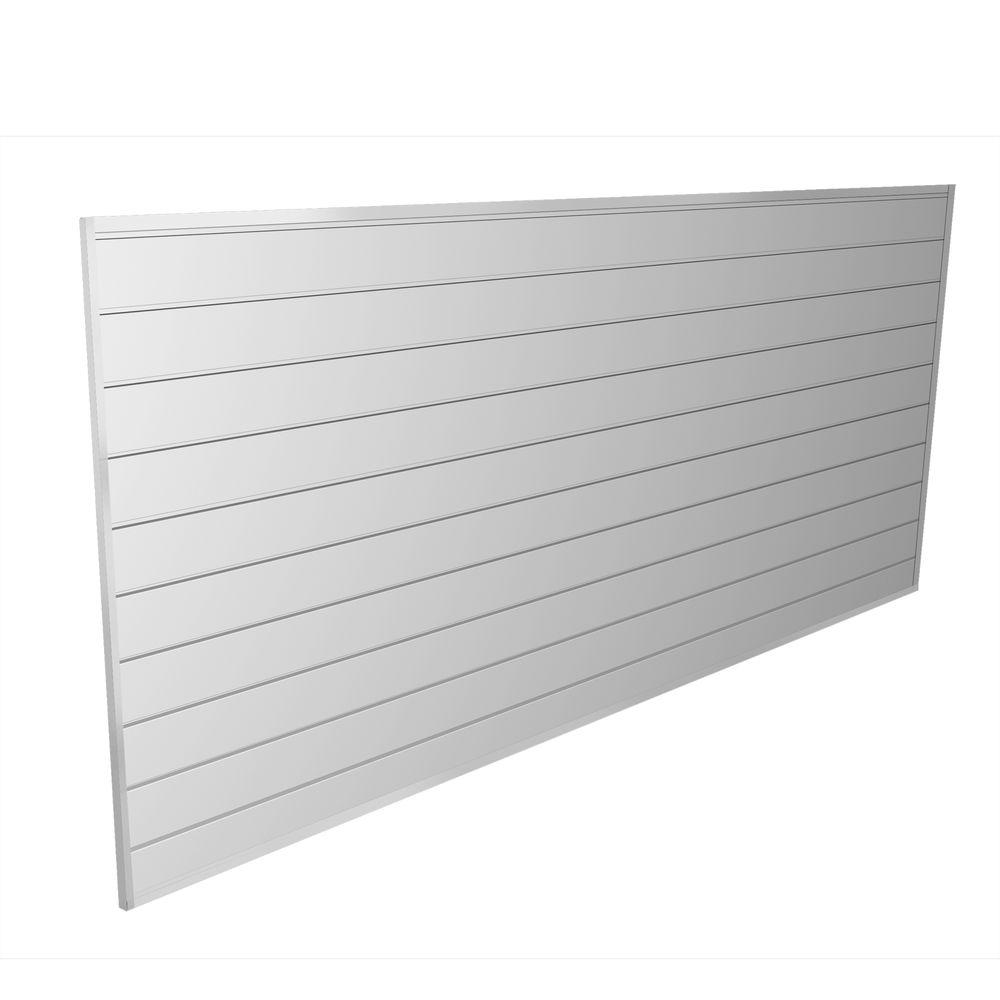 Proslat Pvc Slatwall 8 Ft X 4 Ft White 88102 The Home Depot