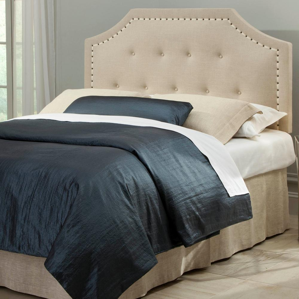 Making An Upholstered Headboard With Nailhead Trim Fashion Bed Group Avignon Full Queen Size Upholstered Adjustable