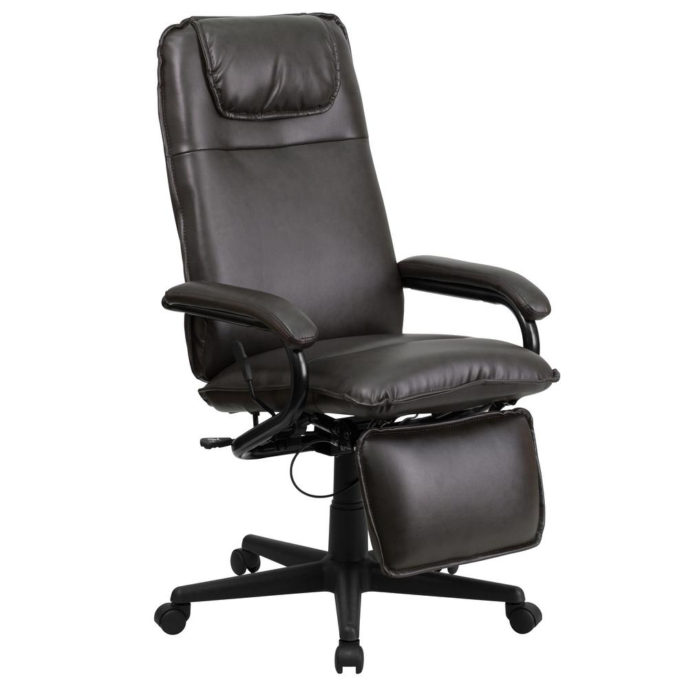 Chair Leather Reclining Swivel Flash Furniture High Back Brown Leather Executive Reclining Swivel Office Chair