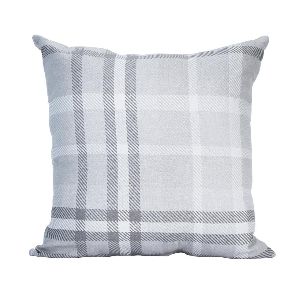 Lounge Throw Astella Tartan Charcoal Square Outdoor Accent Lounge Throw Pillow