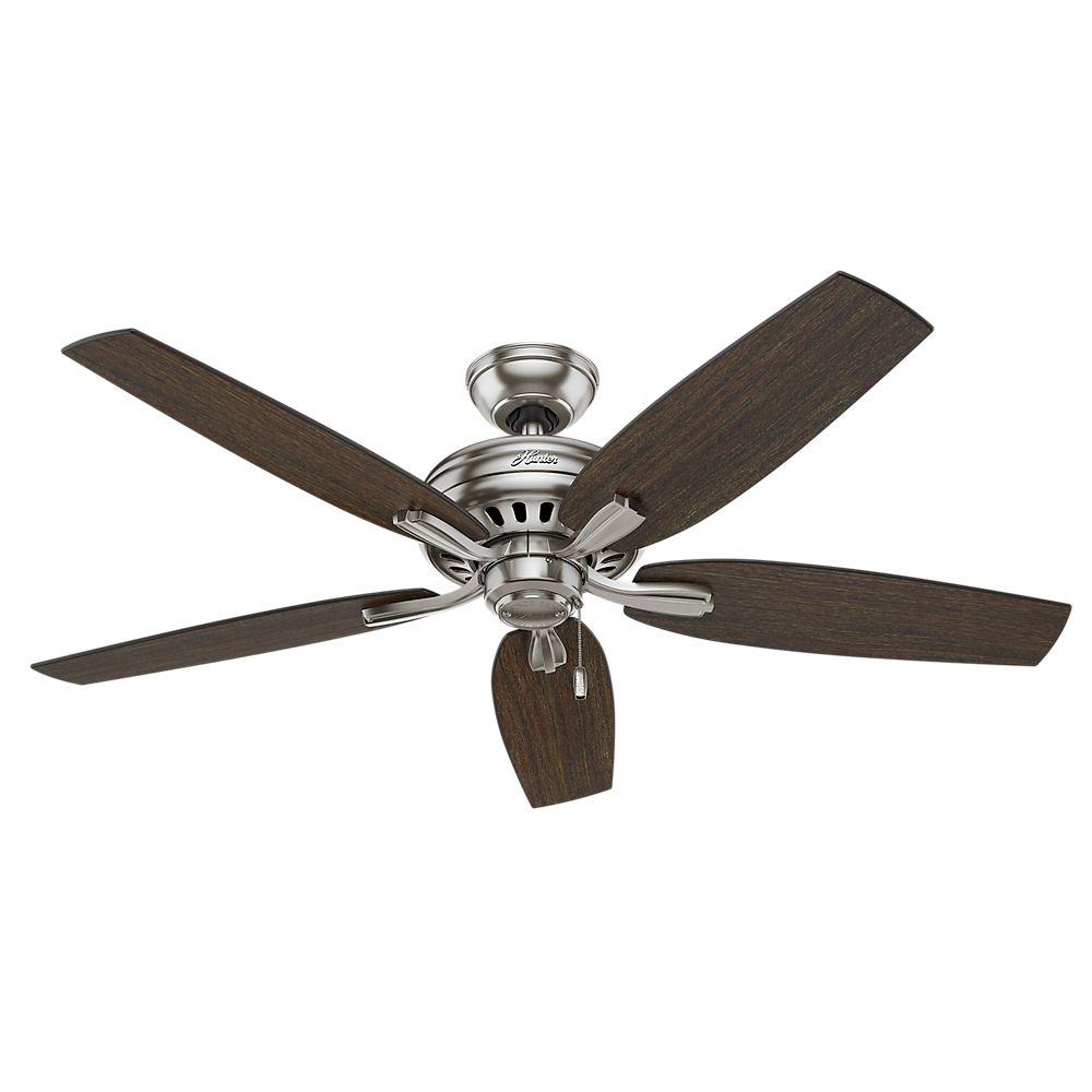 Large Indoor Fans Hunter Newsome 52 In Indoor Brushed Nickel Ceiling Fan