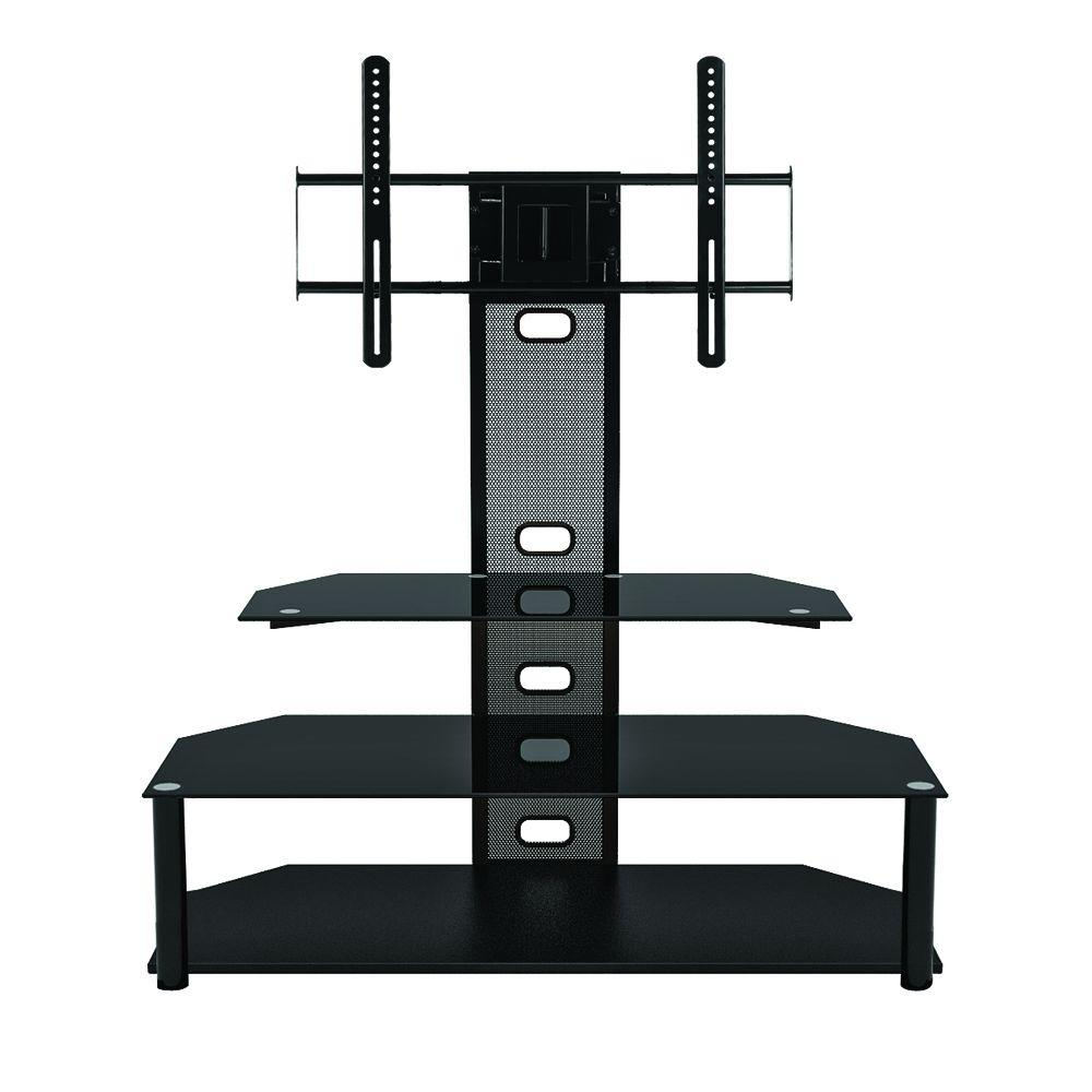 Flat Screen Tv Stands Z Line Designs Black Glossy Entertainment Center