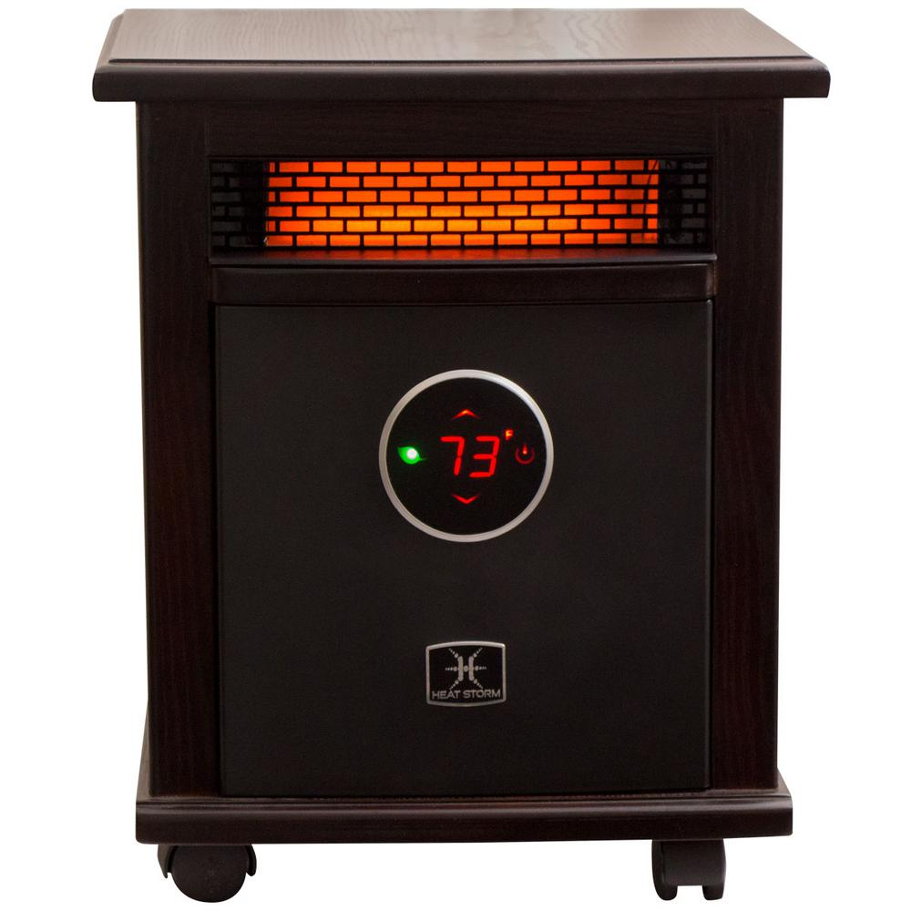 Home Depot Space Heater Logan Deluxe 1 500 Watt Infrared Quartz Portable Heater With Built In Thermostat And Over Heat Sensor