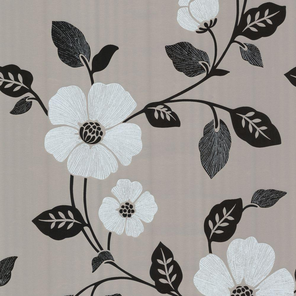 Chic Contemporary Modern Wallpaper Zync Gray Modern Floral Wallpaper
