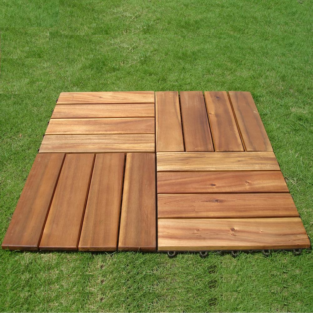 Interlocking Deck Tiles Details About Wood Deck Tile Outdoor Balcony Interlocking Acacia Hardwood Patio Flooring Slats