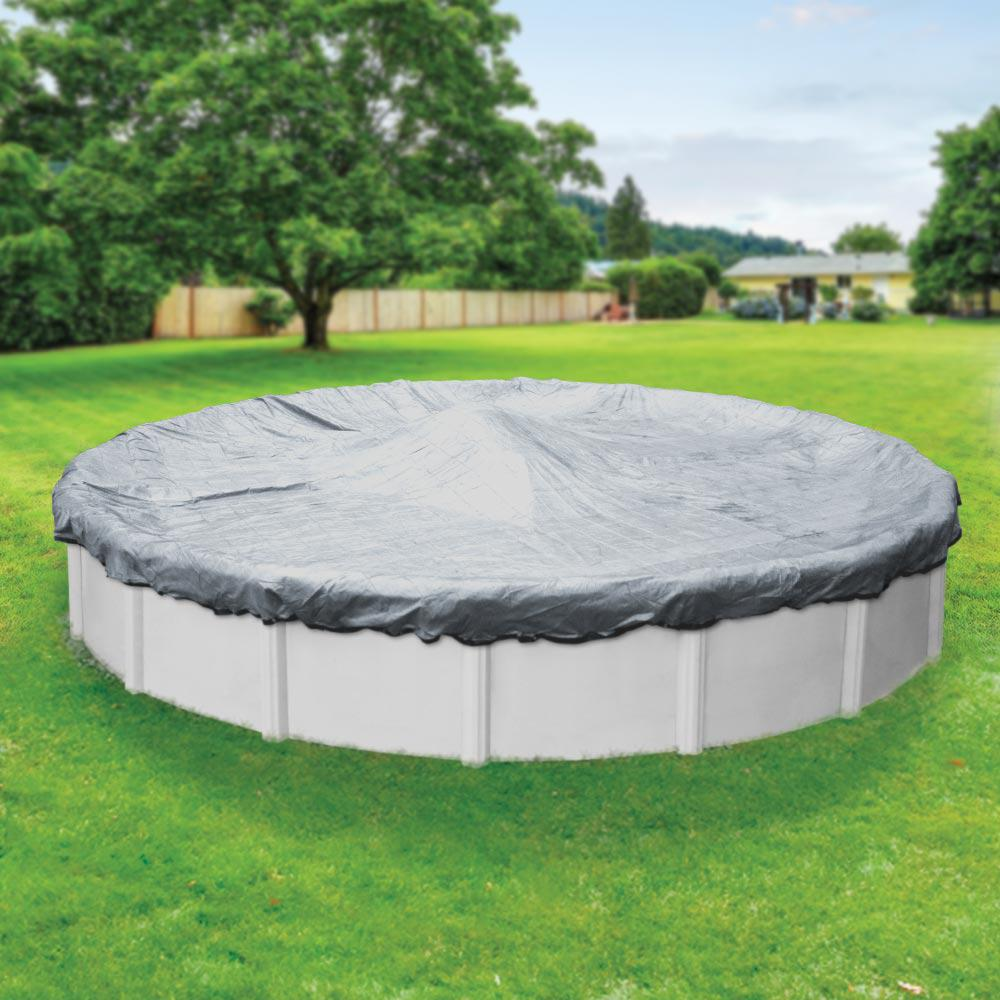 Xl Winter Pool Mate Extreme Mesh Xl 24 Ft Round Silver Mesh Above Ground Winter Pool Cover