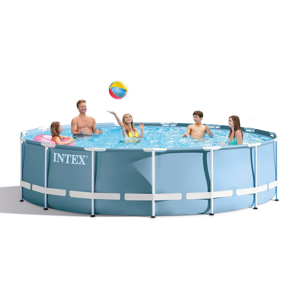 Intex Vs Bestway Review Intex Intex 18 Ft X 48 In Prism Frame Swimming Pool Set Ladder Cover And Pump