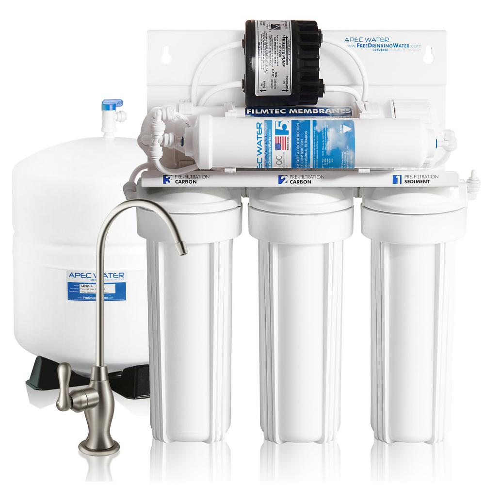 Reverse Osmosis Drinking Water System Apec Water Systems Ultimate Premium Quality Permeate Pumped Under Sink Ro Drinking Water System For Low Water Pressure Home